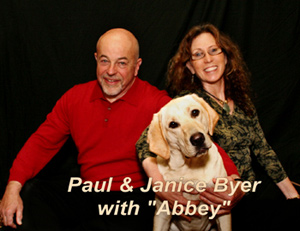 "Paul & Janice Byer with ""Abbey"""