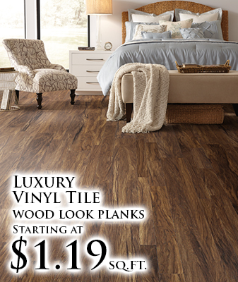 Luxury Vinyl Tile wood look planks starting at $1.19 sq.ft.
